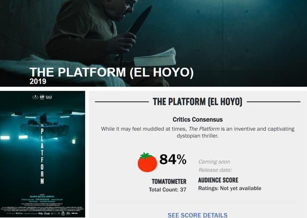 Hàng loạt cây viết uy tín quốc tế khen hết lời The Platform - phim kinh dị vừa ra mắt đã lọt top 3 Netflix Việt Nam - Ảnh 1.
