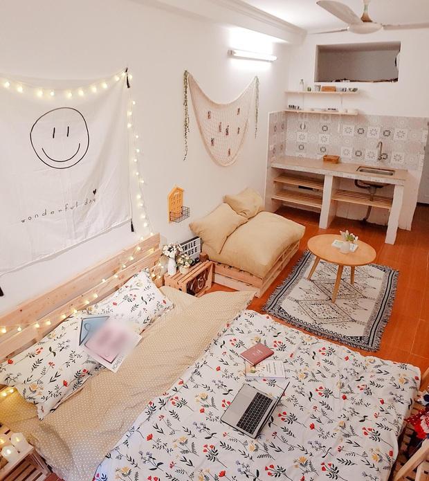 Mất 2 tuần và 10 triệu đồng, cô gái biến phòng trọ cũ kỹ thành không gian sống xinh xắn miễn bàn - Ảnh 5.