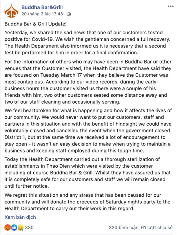 Quán bar có khách hàng dương tính với Covid-19 khiến dân mạng bức xúc với lời giải thích về việc mở cửa phục vụ trong thời điểm nhạy cảm - Ảnh 3.