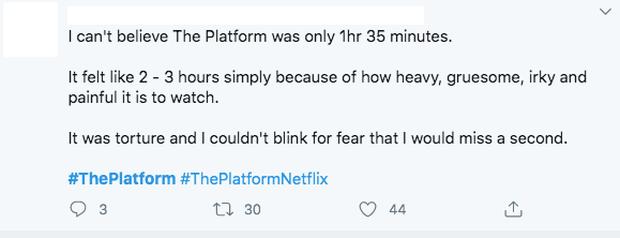 Khán giả bình luận về The Platform: Khủng khiếp nặng nề như Parasite, xem không chớp mắt sợ bỏ lỡ khung hình - Ảnh 4.
