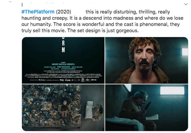 Khán giả bình luận về The Platform: Khủng khiếp nặng nề như Parasite, xem không chớp mắt sợ bỏ lỡ khung hình - Ảnh 5.