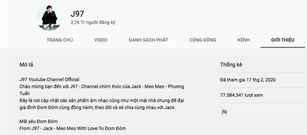 Jack lọt Top 50 kênh YouTube hàng đầu Việt Nam dù mới lập hơn 1 tháng, vượt qua cả Min, Đức Phúc nhưng vẫn thua K-ICM sát nút - Ảnh 2.