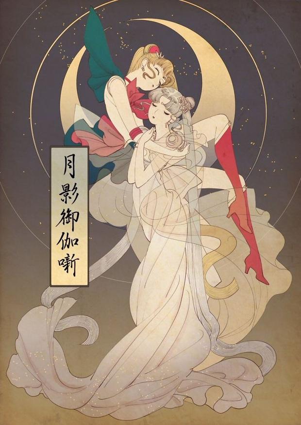 Khi các nàng công chúa Disney hiện lên dưới phong cách vẽ truyền thống Nhật Bản - Ảnh 8.