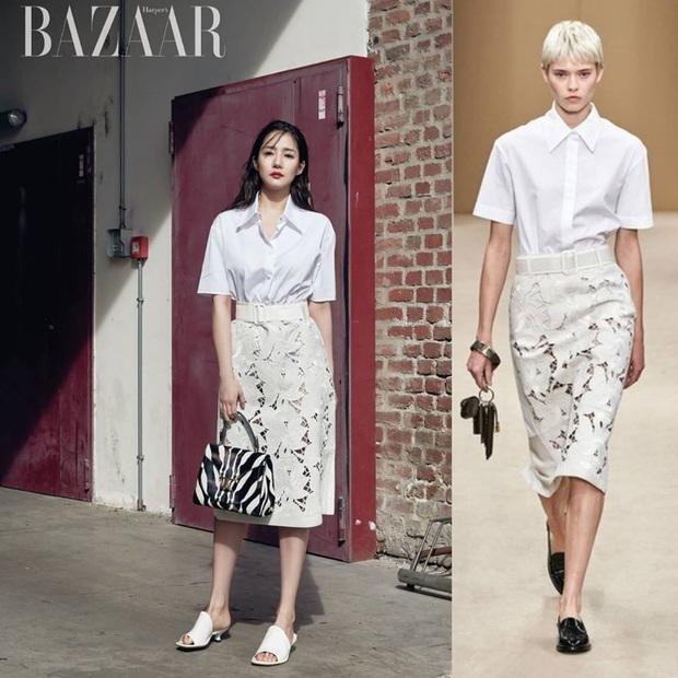 Hết chê Park Min Young được rồi, diện bộ nào cũng sang và đẹp hơn người mẫu, thần thái lại càng xuất sắc - Ảnh 1.
