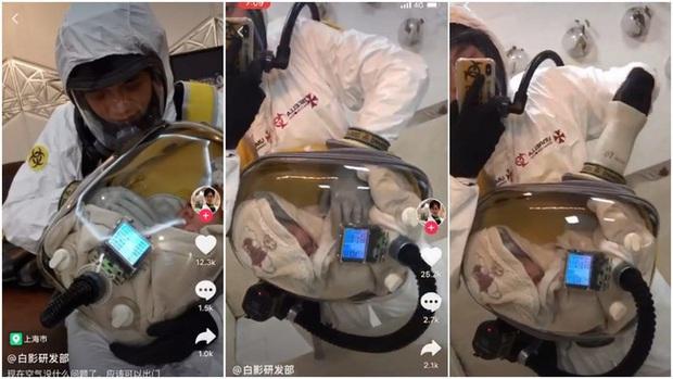 Lấy cảm hứng từ trò chơi online nổi tiếng, ông bố trẻ ở Trung Quốc chế tạo balo đặc biệt để bảo vệ con trai cưng giữa mùa dịch Covid-19 hoành hành - Ảnh 1.