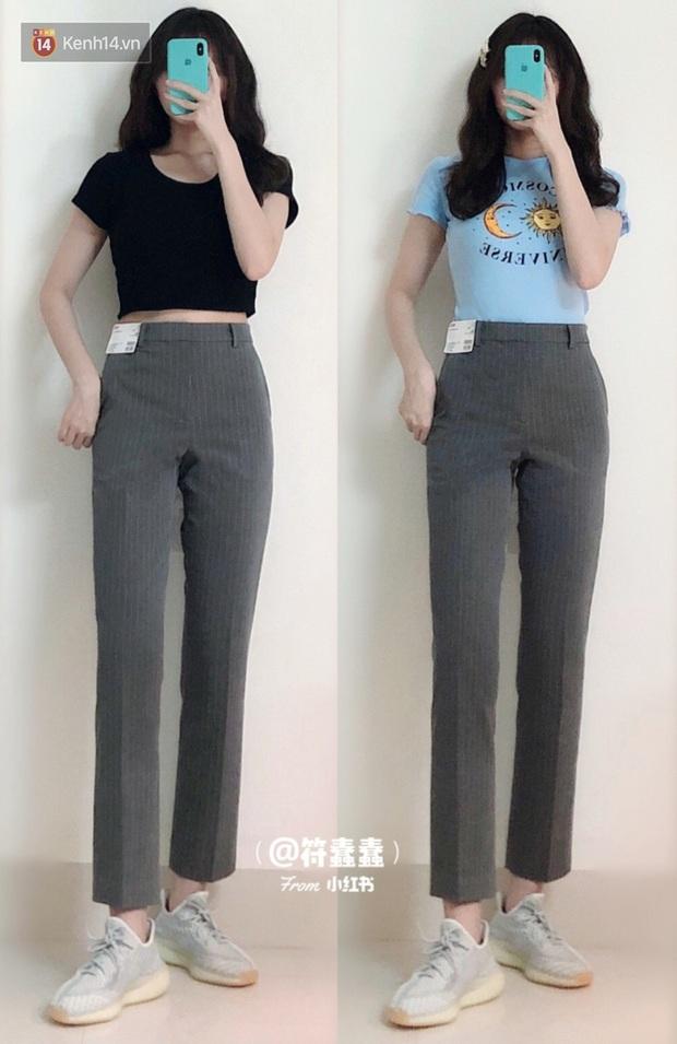 Dáng thẳng đuột khi diện skinny jeans, cô nàng đã được khai sáng khi tìm ra 8 chiếc quần âu tôn dáng mà thanh lịch hết sức - Ảnh 4.