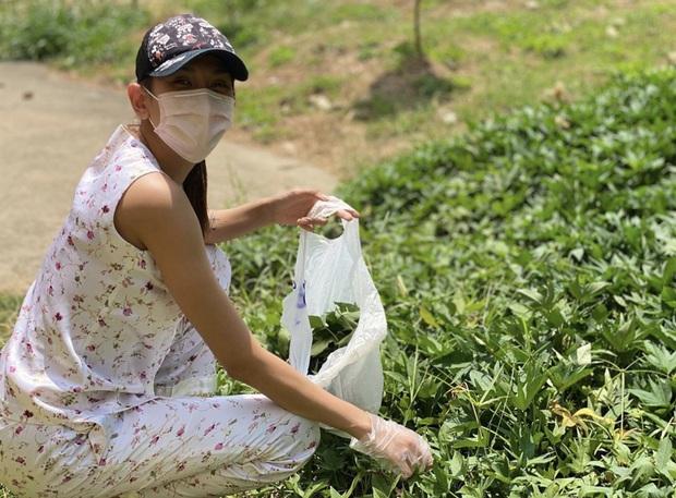 Đi cách ly nhưng lớp khẩu nghiệp của Võ Hoàng Yến có cả hoạt động ngoại khoá: tự hái rau lang organic để làm bữa trưa - Ảnh 1.