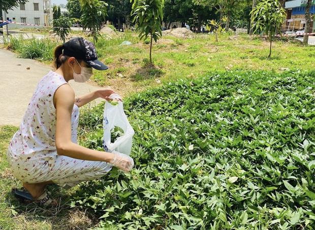 Đi cách ly nhưng lớp khẩu nghiệp của Võ Hoàng Yến có cả hoạt động ngoại khoá: tự hái rau lang organic để làm bữa trưa - Ảnh 3.