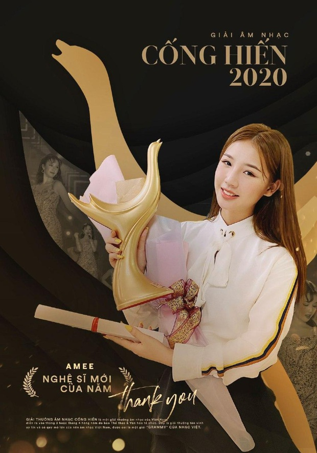 Cống hiến 2020: Hoàng Thùy Linh lập cú poker lịch sử với 4 giải thưởng, AMEE trở thành Nghệ sĩ mới xuất sắc của năm với số điểm tuyệt đối - Ảnh 3.