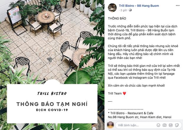Hưởng ứng lời kêu gọi, hàng loạt quán cafe ở Hà Nội thông báo tạm dừng hoạt động, một số chuyển sang bán online - Ảnh 9.
