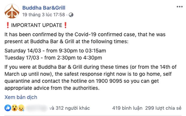Nghi vấn quán bar ở Quận 2 có khách hàng dương tính với Covid-19 đã đóng cửa vĩnh viễn, fanpage hiện cũng biến mất trên Facebook? - Ảnh 2.