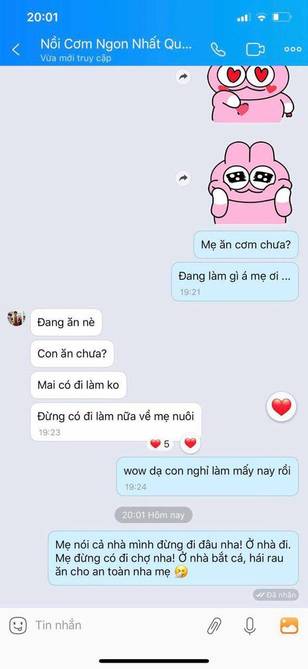 Ở nhà cũng không quên nhắn gửi yêu thương giữa mùa dịch Covid-19: Quốc Trường, Cao Thái Hà trấn an gia đình lạc quan, mẹ Puka nói 1 câu khiến ai cũng cảm động! - Ảnh 15.