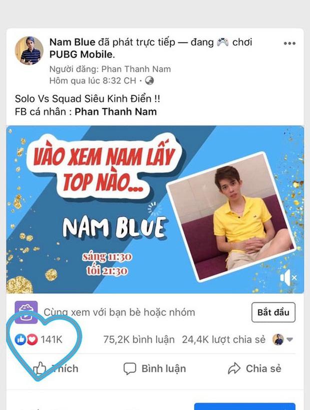 Streamer Nam Blue lập kỉ lục mới, 141.000 thả like cho một buổi stream - Ảnh 2.