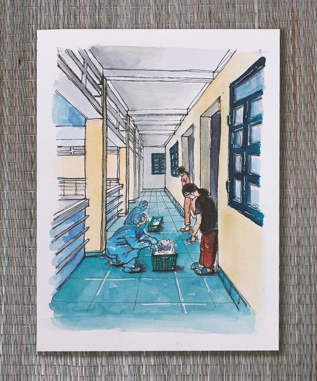 DHS Anh vẽ khu cách ly xinh xẻo như trong truyện tranh: Ở đâu cũng đẹp, miễn là mình còn yêu đời! - Ảnh 5.