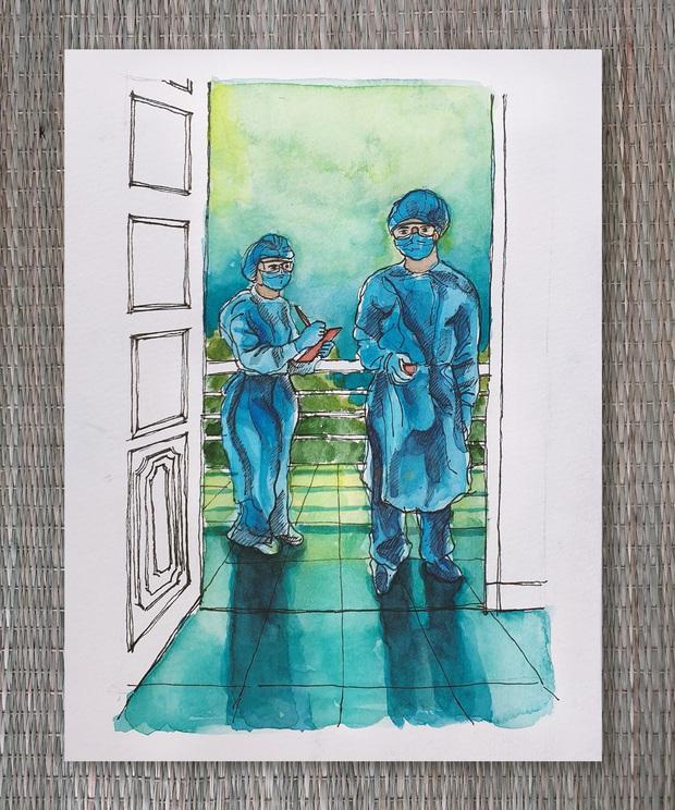 DHS Anh vẽ khu cách ly xinh xẻo như trong truyện tranh: Ở đâu cũng đẹp, miễn là mình còn yêu đời! - Ảnh 13.