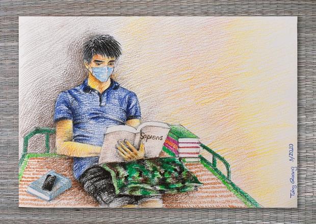 DHS Anh vẽ khu cách ly xinh xẻo như trong truyện tranh: Ở đâu cũng đẹp, miễn là mình còn yêu đời! - Ảnh 23.