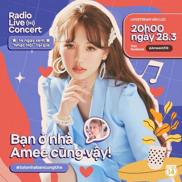 Bạn có hẹn với AMEE 8 giờ tối thứ bảy: công chúa teenpop sẽ ăn diện thật xinh, dẫn dắt buổi hẹn hò gà bông cực lãng mạn tại Radio Live Concert! - Ảnh 1.