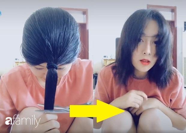 Cách tự cắt tóc tại nhà của hội con gái Trung Quốc, chẳng cần ra tiệm mà vẫn xịn sò ra trò - Ảnh 1.