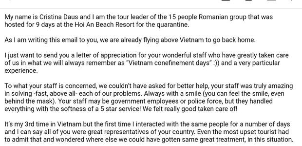 Bức tâm thư chạm tới trái tim từ khu cách ly của nữ du khách Rumani: Tôi đã thấy nụ cười sau tấm khẩu trang! - Ảnh 3.