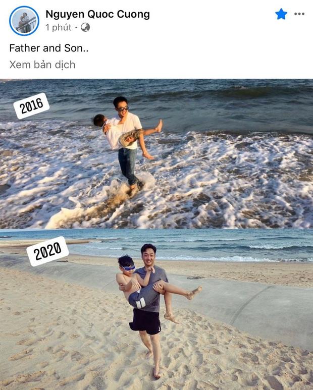 Khoảnh khắc Subeo nằm trọn trong vòng tay Cường Đô La sau 4 năm: Lớn nhanh như thổi nhưng vẫn là cậu bé bên bố! - Ảnh 2.