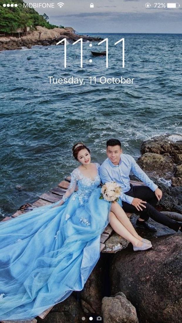 Hé lộ bộ ảnh cưới khiến Cao Xuân Tài mất đi nụ hôn đầu, cô dâu cài làm hình nền nhưng không quên đính chính! - Ảnh 4.