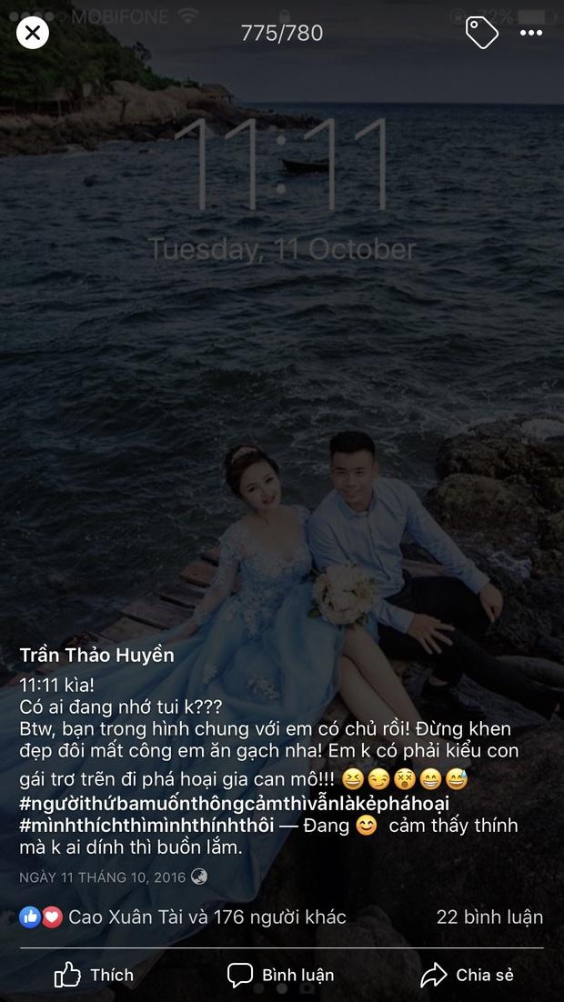 Hé lộ bộ ảnh cưới khiến Cao Xuân Tài mất đi nụ hôn đầu, cô dâu cài làm hình nền nhưng không quên đính chính! - Ảnh 5.