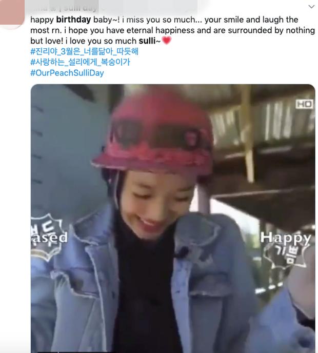 Lời chúc sinh nhật Sulli lên top trend thế giới, fan nghẹn ngào: Jinri à, tháng 3 ấm áp như em vậy đó - Ảnh 6.