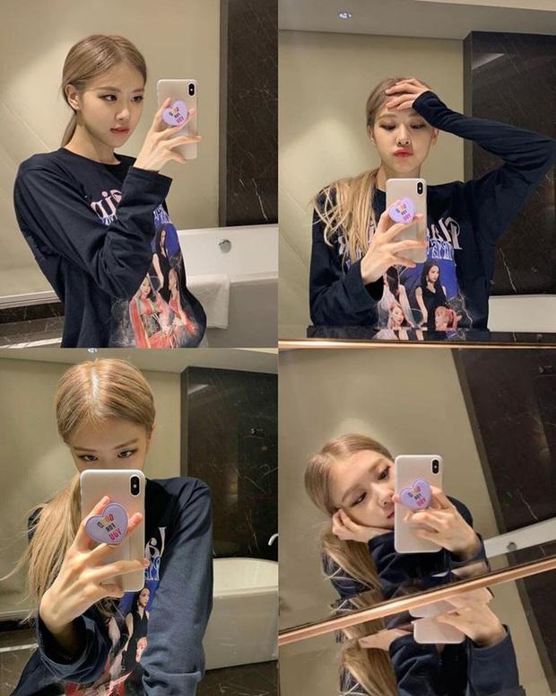 Học lỏm cả tá bí kíp selfie thượng thừa từ cô nàng Rosé (Black Pink), chỉ chụp ảnh trước gương mà vẫn đẹp rụng rời - Ảnh 3.