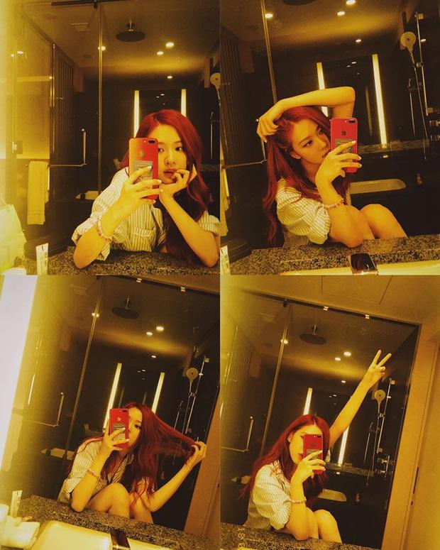 Học lỏm cả tá bí kíp selfie thượng thừa từ cô nàng Rosé (Black Pink), chỉ chụp ảnh trước gương mà vẫn đẹp rụng rời - Ảnh 4.