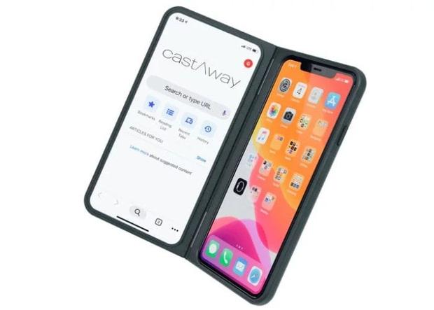 iPhone 6 cũ rích cũng có thể hô biến thành iPhone màn hình kép, gập ra gập vào bảnh không kém Galaxy Fold - Ảnh 1.