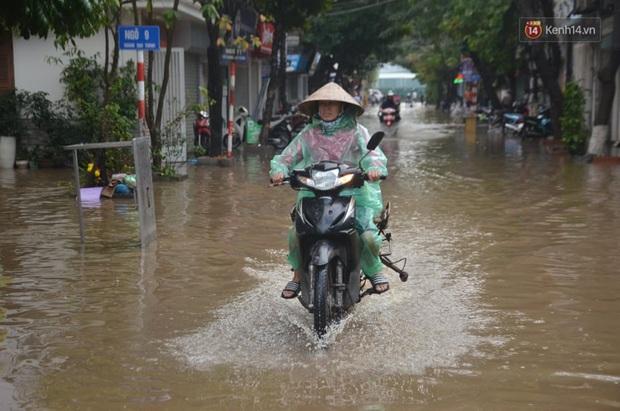Hà Nội: Nhiều tuyến phố ngập nghiêm trọng, cây xanh bật gốc đổ ngang đường sau cơn mưa như trút nước - Ảnh 5.
