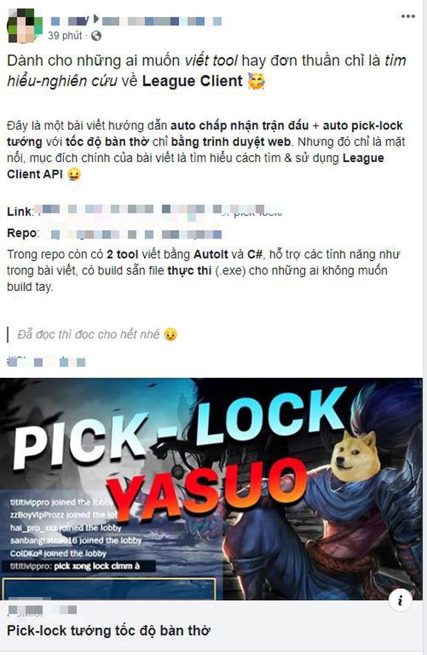 LMHT: Garena Việt Nam đưa ra phản hồi chính thức về tool pick-lock nhanh hơn người yêu cũ trở mặt - Ảnh 1.