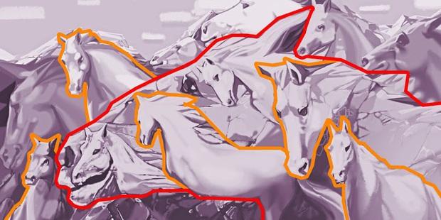 Trắc nghiệm tâm lý: Bạn có thể nhìn thấy bao nhiêu con ngựa và câu trả lời có thể tiết lộ rất nhiều điều về bạn - Ảnh 3.