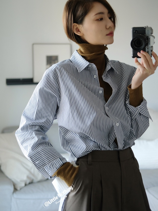 Biết 6 cách biến tấu với 1 chiếc áo sơ mi thì đảm bảo style công sở của bạn sẽ không còn cứng nhắc chút nào - Ảnh 7.
