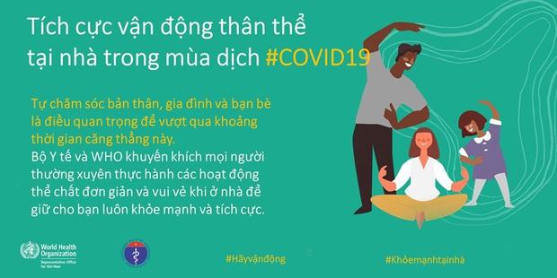 Bộ Y tế và WHO khuyến khích người dân nên tăng cường vận động thể lực để giữ sức khỏe trong mùa dịch COVID-19 - Ảnh 4.