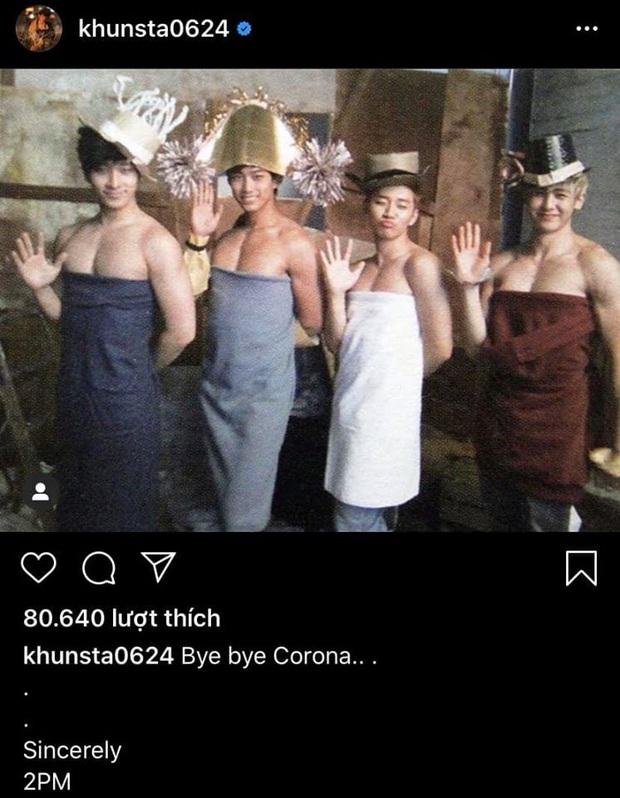 Đăng ảnh tấu hài cực mạnh với khát khao tạm biệt covid-19, hoàng tử Thái Nickhun khiến khán giả cười lăn cười bò - Ảnh 2.