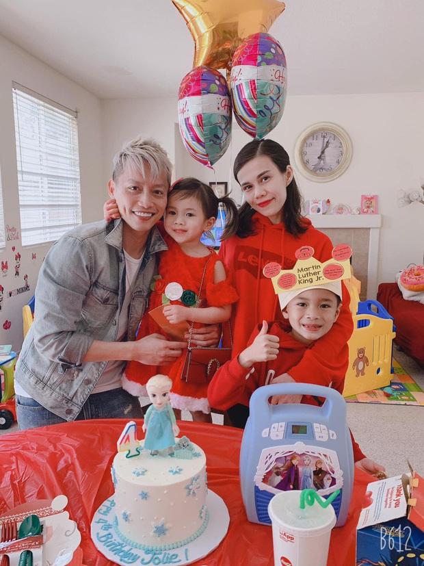 Thuỵ Anh tổ chức sinh nhật cho con gái 4 tuổi ở Mỹ, ảnh gia đình hé lộ mối quan hệ của chồng với con trai riêng - Ảnh 2.