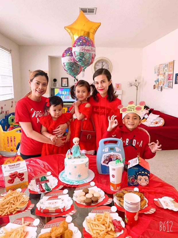 Thuỵ Anh tổ chức sinh nhật cho con gái 4 tuổi ở Mỹ, ảnh gia đình hé lộ mối quan hệ của chồng với con trai riêng - Ảnh 3.