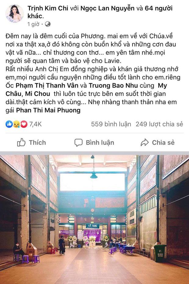 NS Trịnh Kim Chi, Gia Bảo cùng nhiều đồng nghiệp không nén được đau thương trong đêm trước khi tiễn biệt Mai Phương về nơi an nghỉ cuối cùng - Ảnh 2.