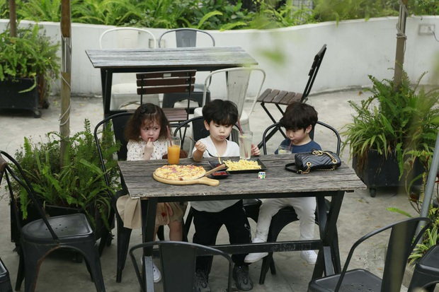 Cam, Xoài, Đậu ngơ ngác khi để cún con làm vỡ cốc nước, ăn cả bánh pizza của cả 3 - Ảnh 2.