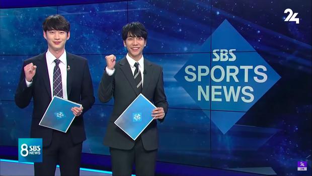 Cả MXH đang ngỡ ngàng trước hình ảnh tài tử Lee Seung Gi dẫn chương trình thời sự trên sóng truyền hình SBS - Ảnh 1.