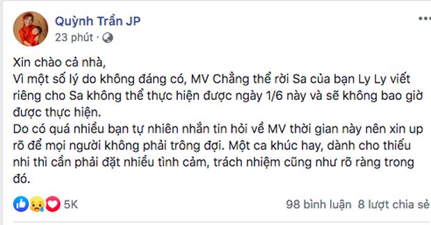 Thêm biến căng, LyLy bất ngờ tung tin nhắn với ekip Quỳnh Trần JP và cho rằng: Không nghĩ status đó do chính chị Quỳnh đăng - Ảnh 5.