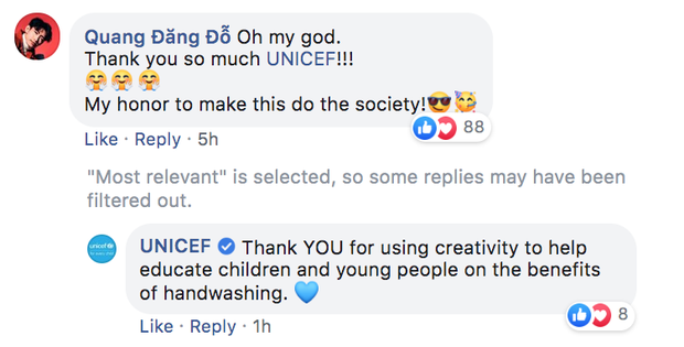 UNICEF chia sẻ clip vũ điệu rửa tay phòng Virus Corona của Quang Đăng và khen hết lời, Việt Nam đưa Ghen Cô Vy viral khắp thế giới luôn rồi! - Ảnh 3.