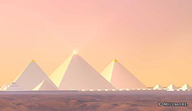 Hình ảnh được cho là diện mạo gốc của kim tự tháp Ai Cập khi vừa xây xong, hoá ra lại có màu trắng lấp lánh như kim cương? - Ảnh 4.
