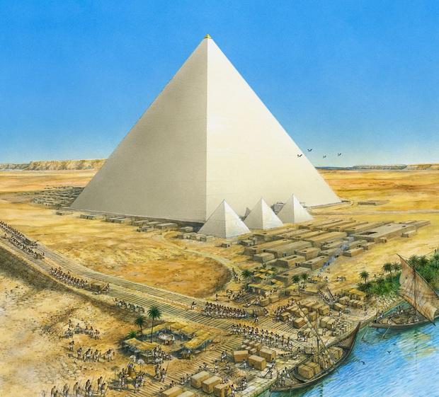 Hình ảnh được cho là diện mạo gốc của kim tự tháp Ai Cập khi vừa xây xong, hoá ra lại có màu trắng lấp lánh như kim cương? - Ảnh 5.