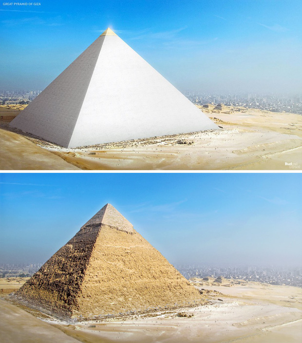 Hình ảnh được cho là diện mạo gốc của kim tự tháp Ai Cập khi vừa xây xong, hoá ra lại có màu trắng lấp lánh như kim cương? - Ảnh 3.
