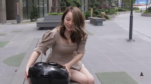 Hot mom Trinh Phạm quằn quại thử hết 3 trend chụp ảnh trong lồng máy giặt, túi gói bim bim, bê nồi cơm điện hot nhất hiện nay: Cái muốn gãy lưng, cái như đi ăn trộm - Ảnh 11.
