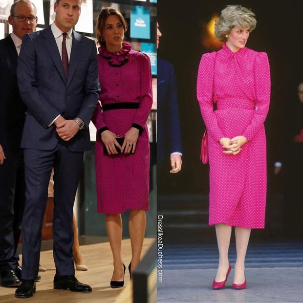 Công nương Kate hạ đo ván em dâu Meghan khi lần đầu tiên diện bộ đồ cũ đặc biệt, đẹp chẳng kém mẹ chồng Diana khi xưa - Ảnh 3.