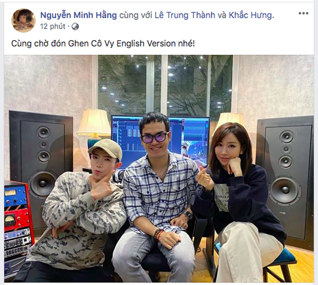 Bộ ba Khắc Hưng - Min - Erik chính thức tung thính, xác nhận Ghen Cô Vy sẽ có phiên bản tiếng Anh dự báo gây bão toàn cầu, - Ảnh 1.