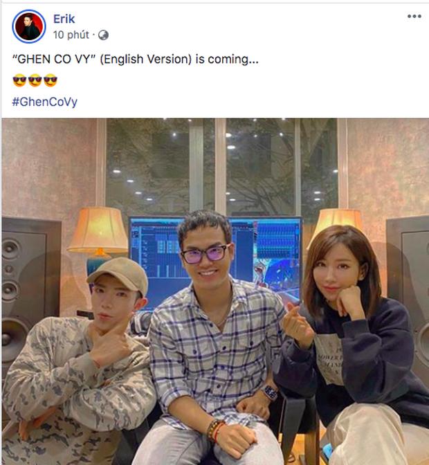 Bộ ba Khắc Hưng - Min - Erik chính thức tung thính, xác nhận Ghen Cô Vy sẽ có phiên bản tiếng Anh dự báo gây bão toàn cầu, - Ảnh 2.